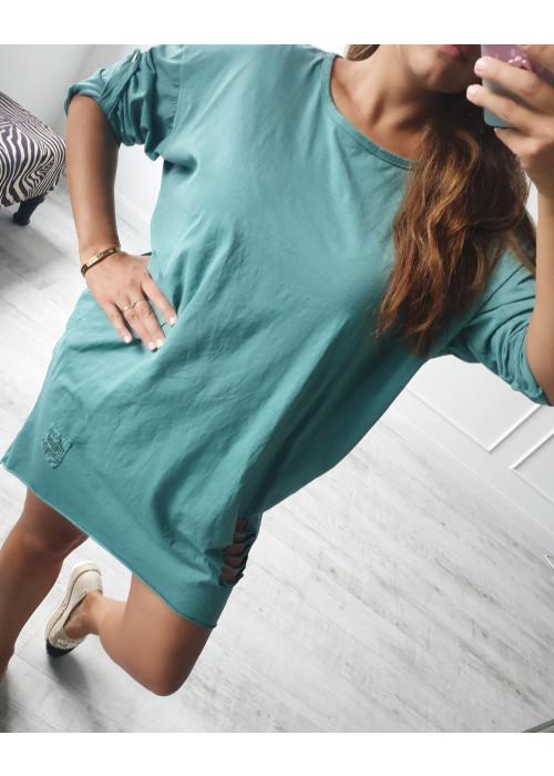 Tunikové šaty Torny zelené
