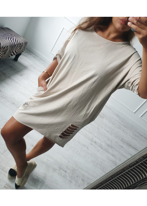 Tunikové šaty Torny béžové