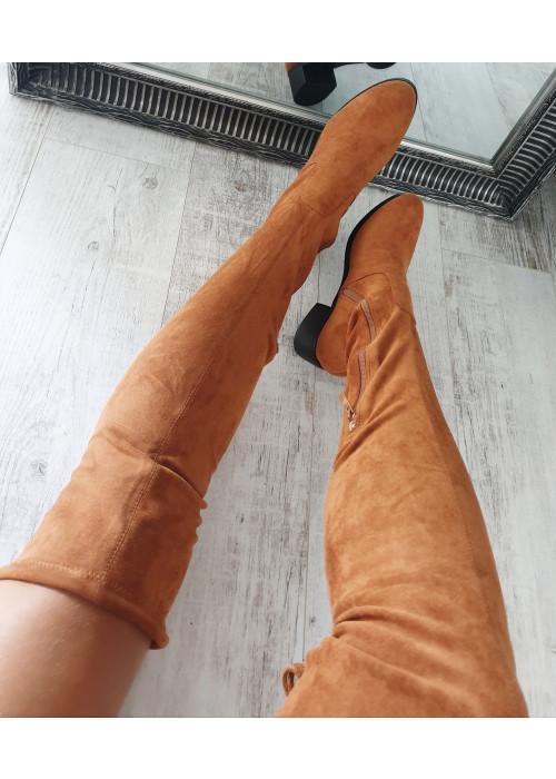 Camel čižmy nad koleno Dara