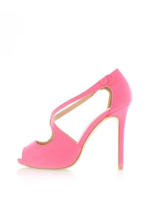 Neónovo ružové sandále Ivonne