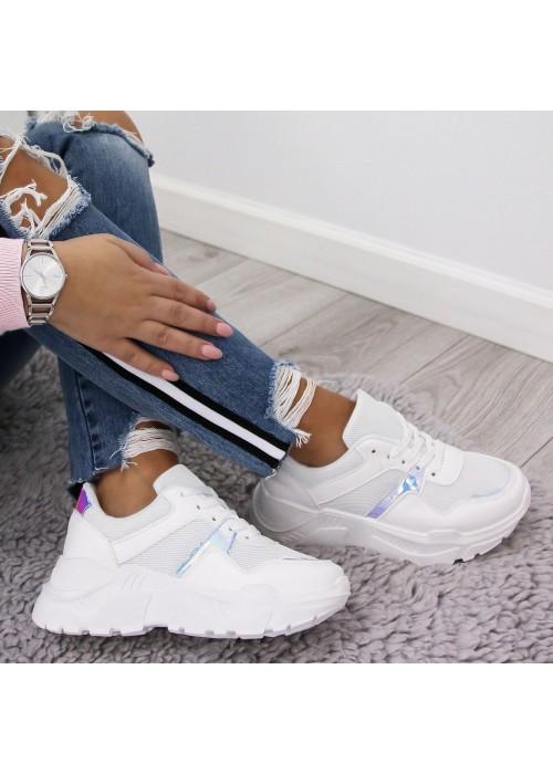 Štýlové botasky Dylan biele