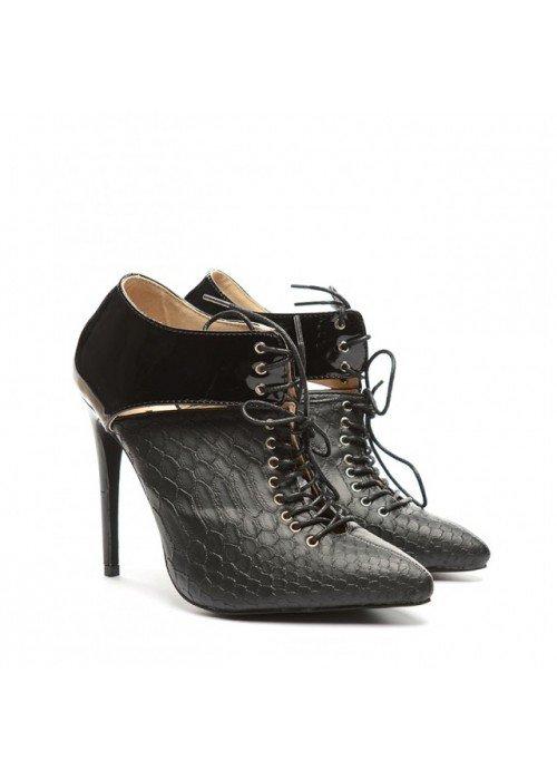 Členkové čižmičky Luxe čierne