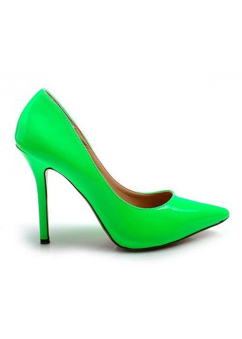 Klasické lodičky Nina neónovo zelené