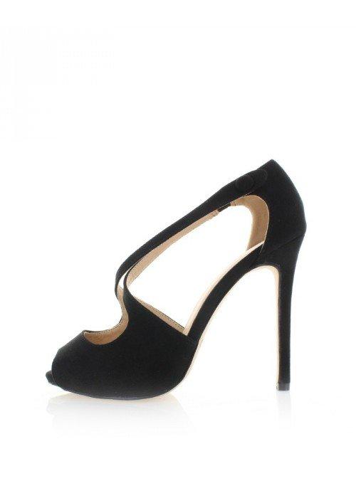 Čierne sandále Ivonne