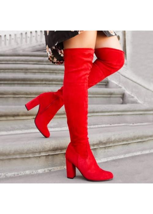 Červené čižmy Pretty