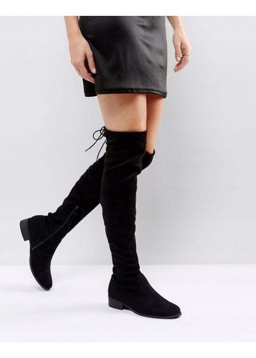 Čierne čižmy nad koleno Mariona