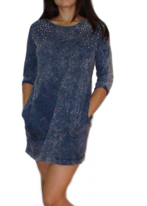 Tunikové šaty AMIA modré