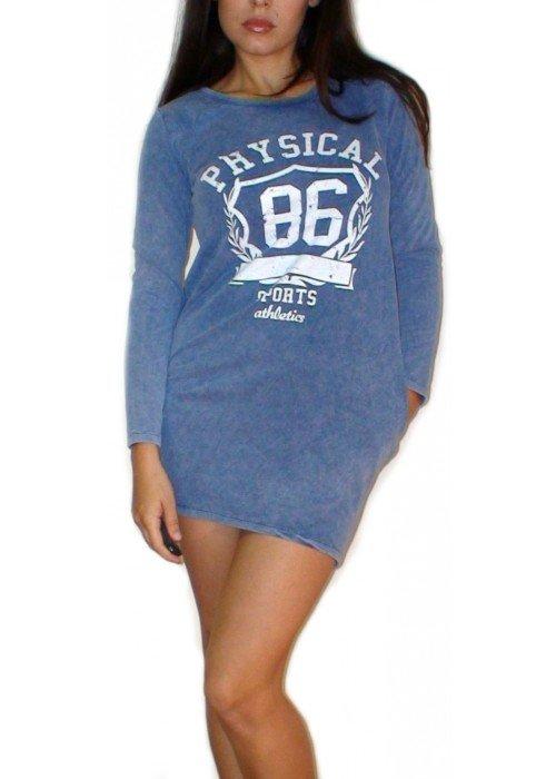 """Tunikové šaty """"PHYSICAL"""" modré"""
