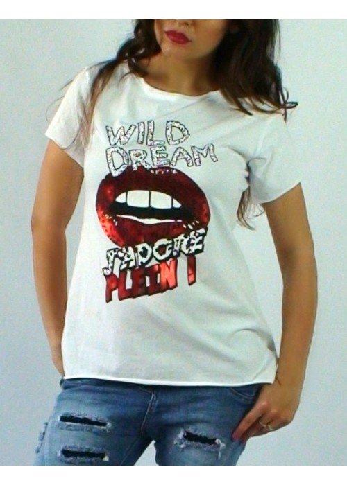 Predĺžené tričko Wild Dream biele