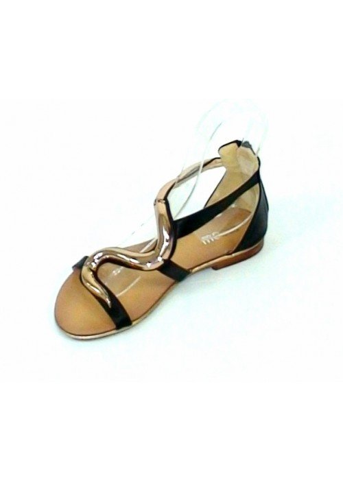 Nízke sandále Serpentine čierne