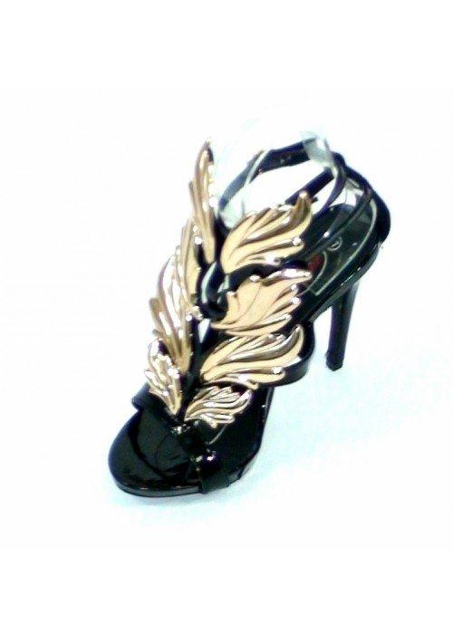 Luxusné sandále Leaf čierne
