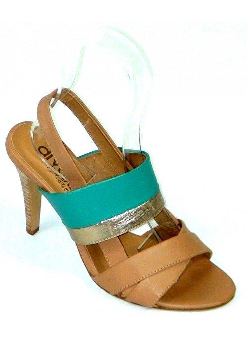 Kožené sandále Paola béžové