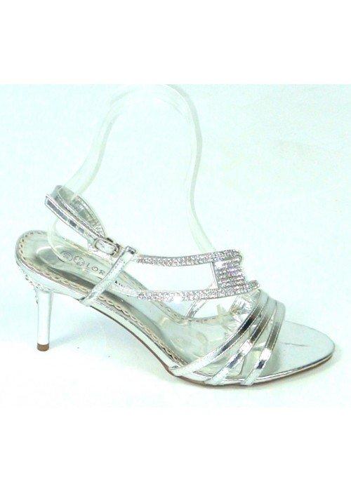 Spoločenské sandále Lorence strieborné
