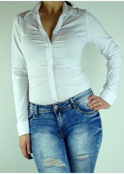 Košeľové body biele