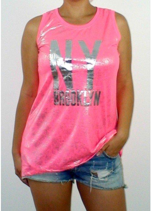 Neónovo ružový top Brooklyn