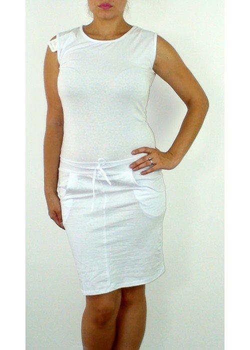 Športové šaty Alex biele