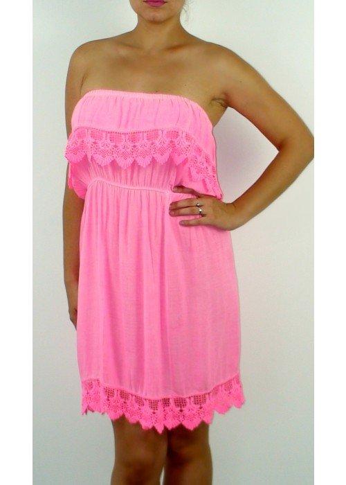 Neónovo ružové šaty Summer