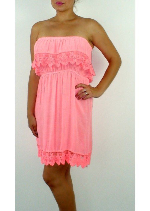 Neónovo oranžové šaty Summer