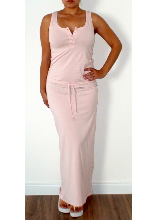 Maxi šaty Irenne ružové