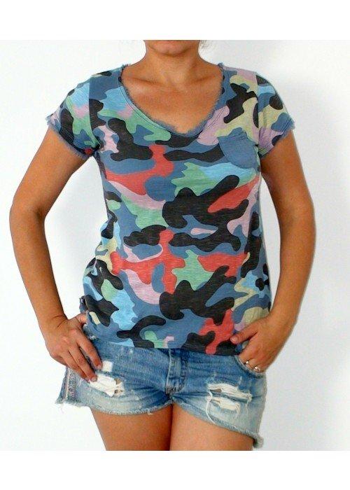 Army tričko s vreckom modré