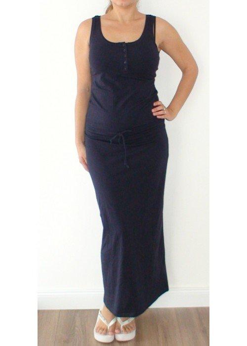 Maxi šaty Irenne tmavo-modré
