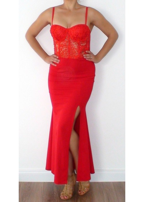 Luxusné šaty Elektra červené