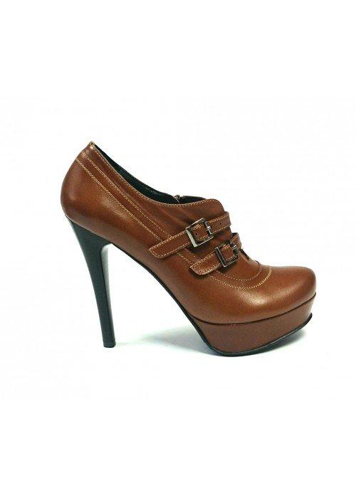 Kožené členkové topánky Lordons hnedé
