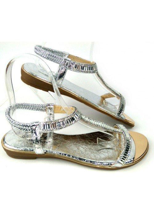 Strieborné sandále Dia