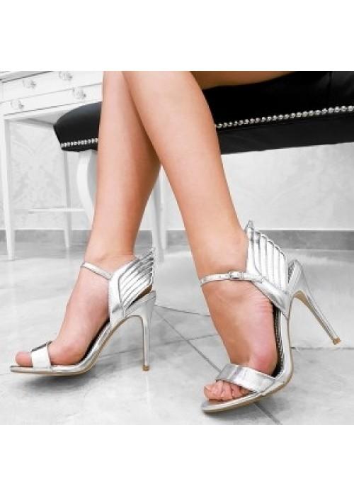 Strieborné sandále Wing