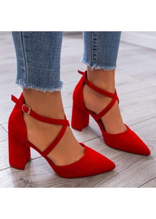 Červené sandále Olla 2