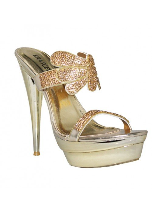 Spoločenské sandále Fiona zlaté
