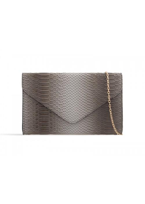 Listová kabelka Snake sivá