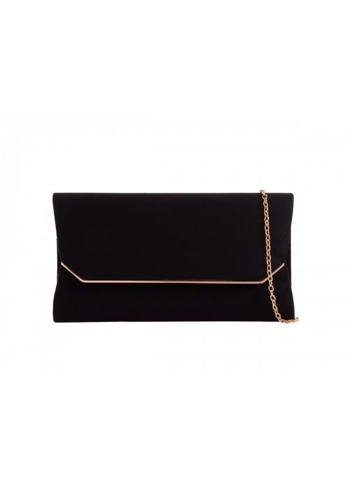 Semišová listová kabelka Zaira čierna