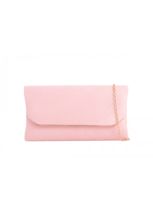 Semišová listová kabelka Zaira ružová