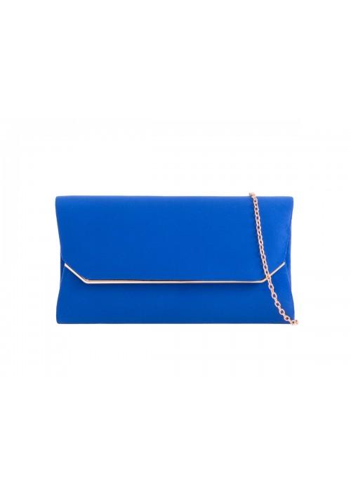 Semišová listová kabelka Zaira kráľovská modrá