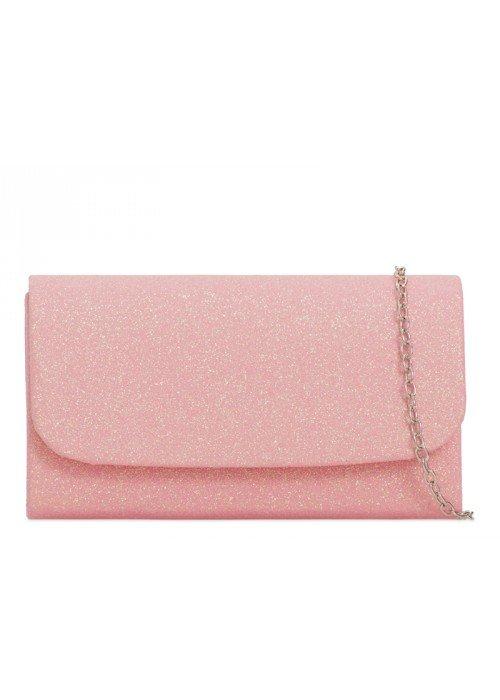 Glitrová kabelka Kara svetlo ružová