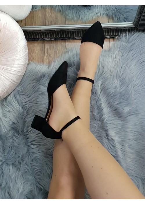 Čierne sandále Olla