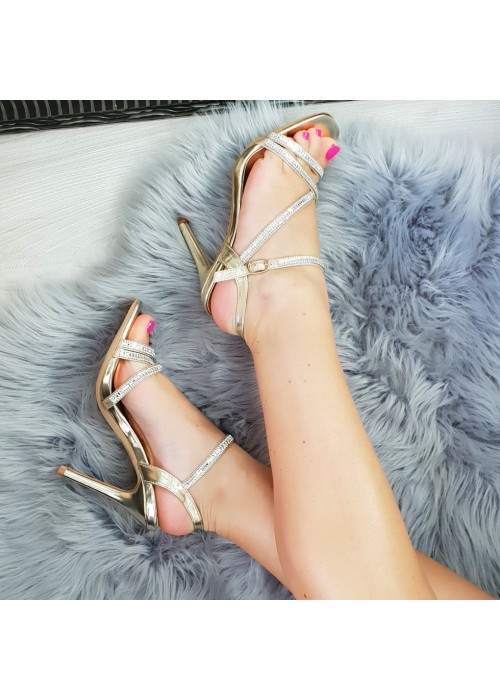Zlaté sandále Glam