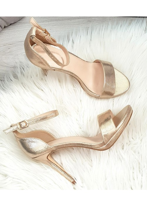Zlaté sandále Janice