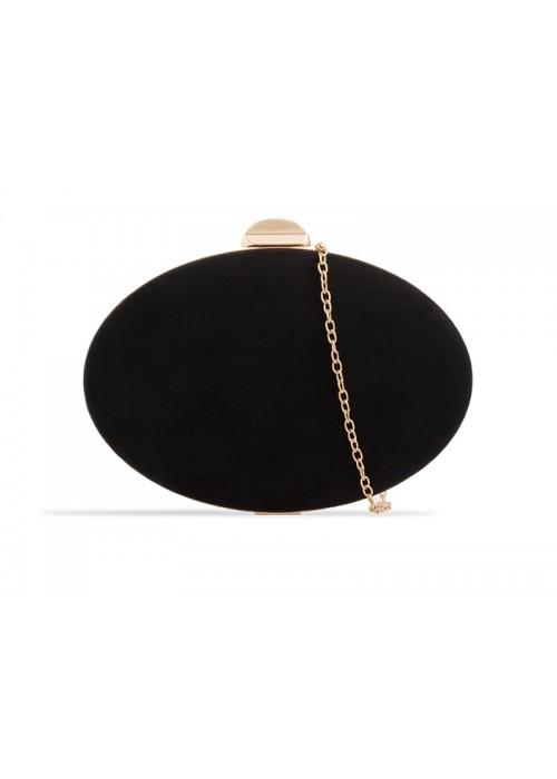 Semišová kabelka v pevnom obale Zelda čierna