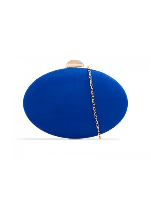 Semišová kabelka v pevnom obale Zelda kráľovská modrá