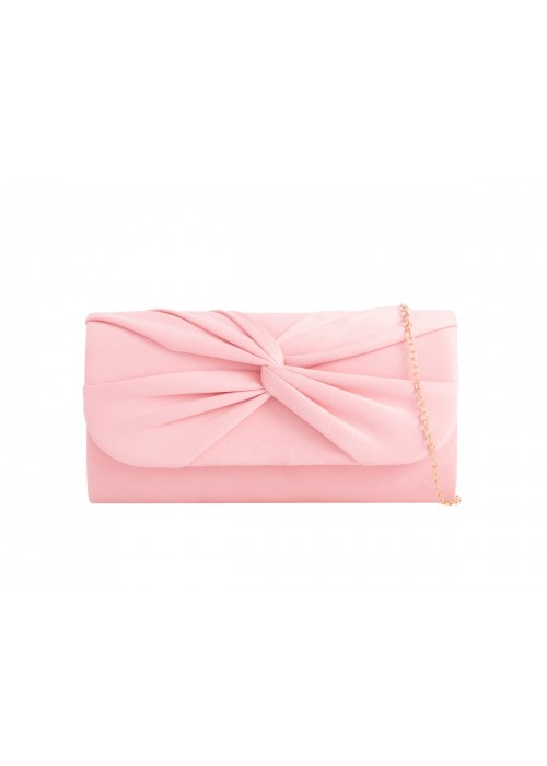 Semišová listová kabelka Knot ružová
