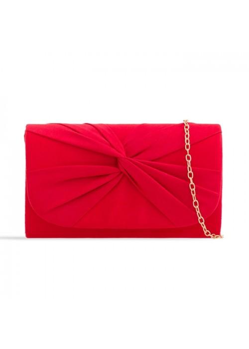 Semišová listová kabelka Reny červená