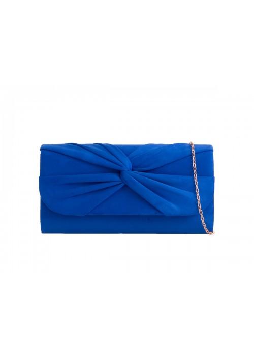 Semišová listová kabelka Knot kráľovská modrá