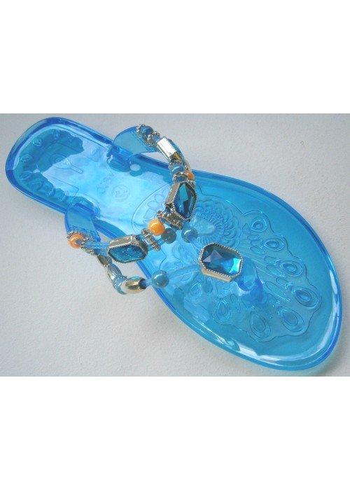 Gelové šľapky Jelly modré