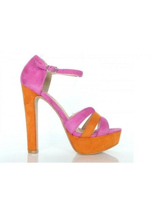 Sandále Zoja ružové