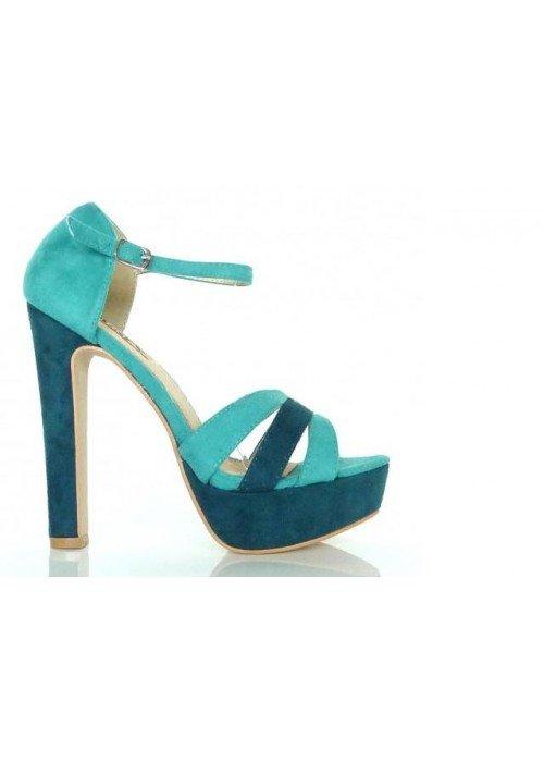 Sandále Zoja tyrkysové
