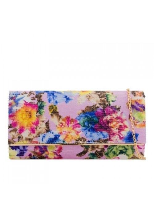 Kvetinová listová kabelka Bloom fialová