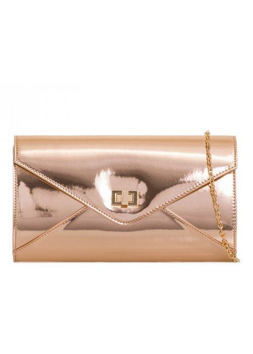 Zrkadlová kabelka Gina rose gold