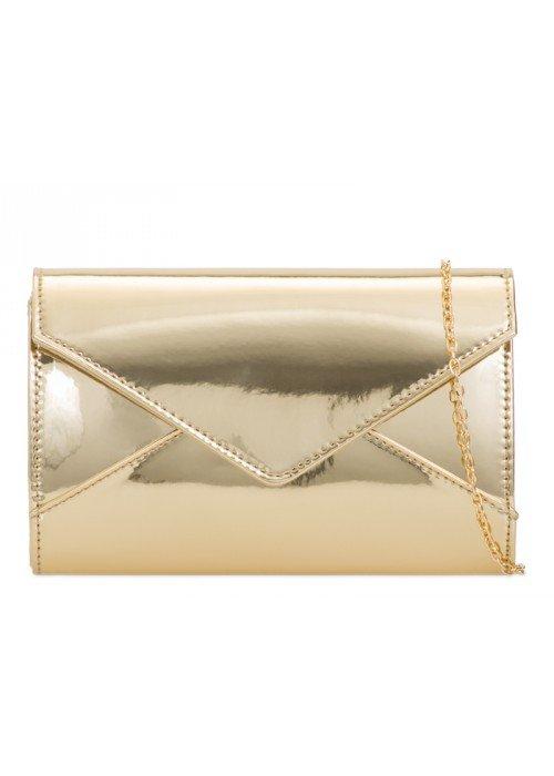 Zlatá zrkadlová kabelka Mary
